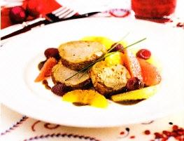 Solomillo de cerdo con salsa de cítricos