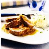 Solomillo de cerdo ibérico con salsa de mostaza