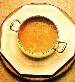 Sopa de higadillos