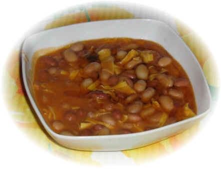 Sopa de judias pintas con carne