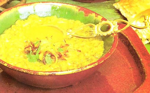 Sopa de lentejas verdes