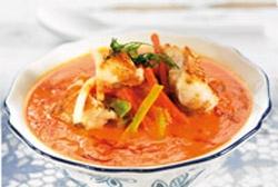 Sopa de mar con sabores del campo
