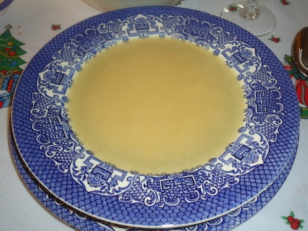 Sopa de sémola de arroz
