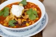 Sopa de taco mexicana