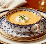 Sopa de zanahorias con boniato