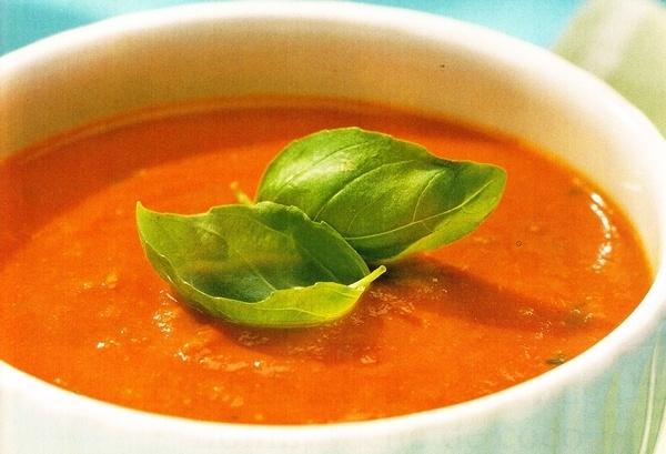 Sopa fría de tomate y melón