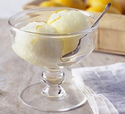 Sorbete de limón y vodka