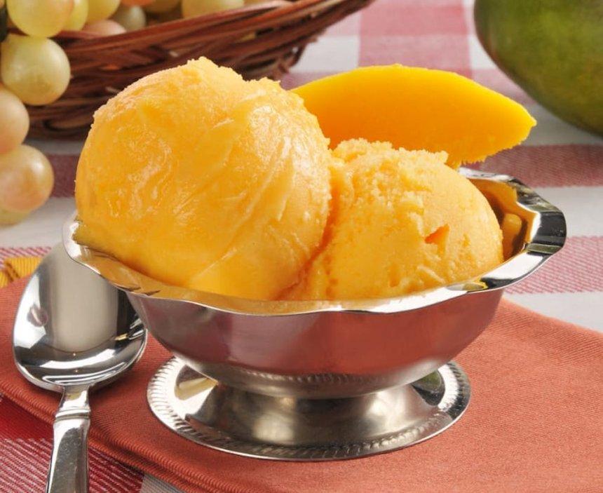 Sorbete de mango y naranja en Thermomix