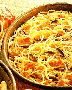 Espaguetis a la boscaiola
