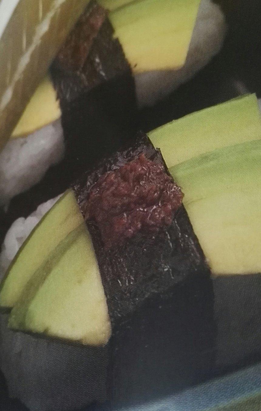 Sushi de aguacate con tapenade