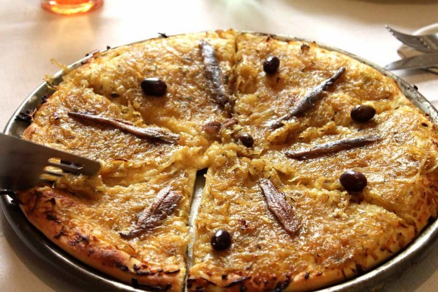 Tarta de cebolla al estilo Niza