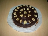 Tarta de chocolate y nueces