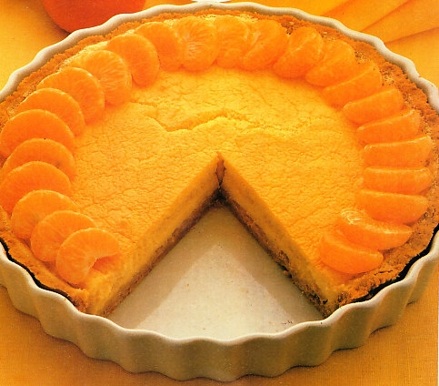 Tarta de limón y mandarinas