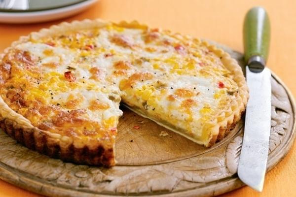 Tarta de peras, nueces y queso gorgonzola