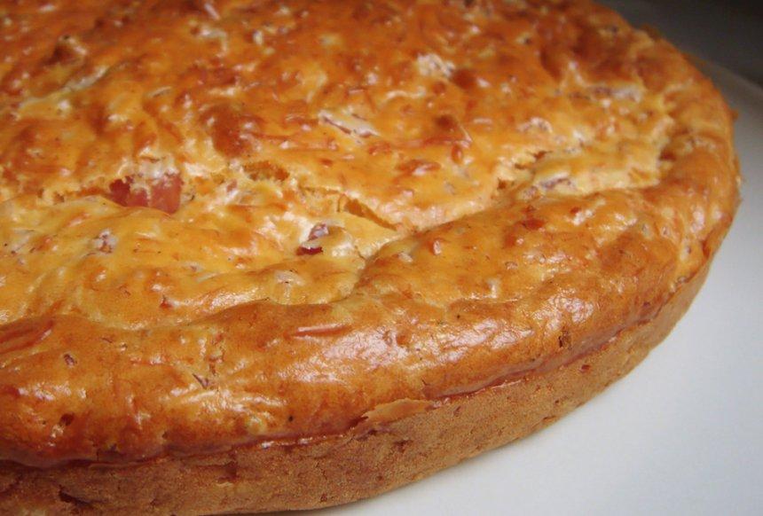 Tarta de queso y jamón