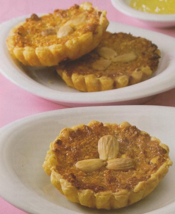 Tartaletas de mermelada y almendras