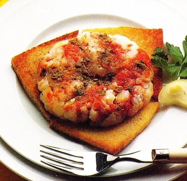 Tartar de merluza y atún