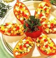 Tomates de pera rellenos