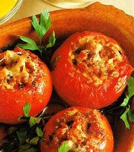 Tomates rellenos de gruyère