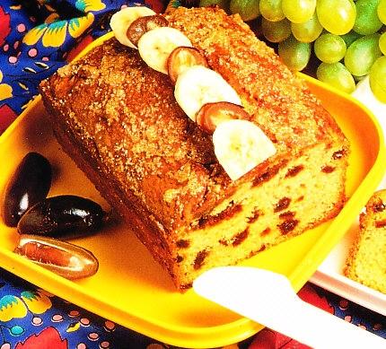 Torta de dátiles y plátanos