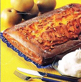 Torta de manzana con nata