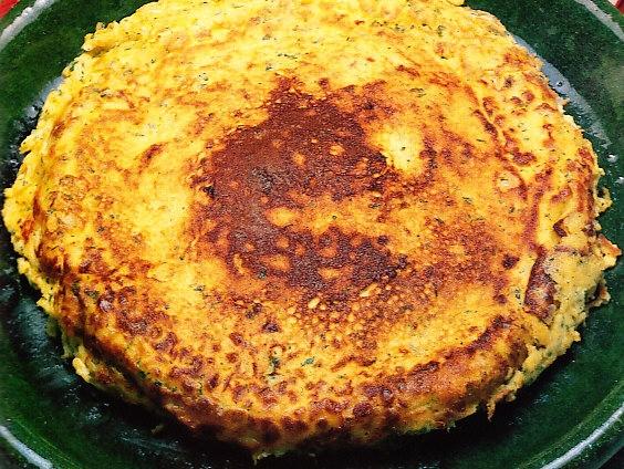 Tortilla con especias al estilo hindú