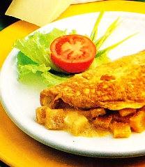 Tortilla crujiente al queso