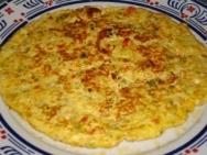 Tortilla de apio y queso