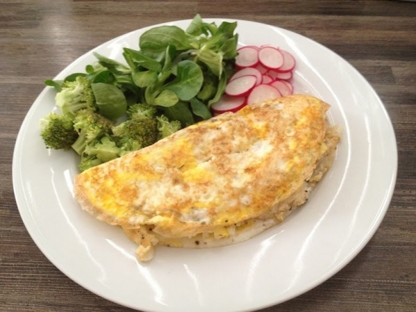 Tortilla de bacalao con cebolla