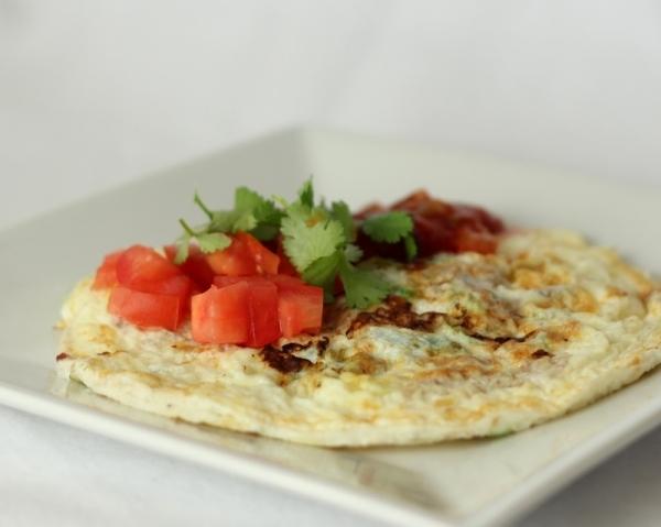 Tortilla de claras de huevo con pavo