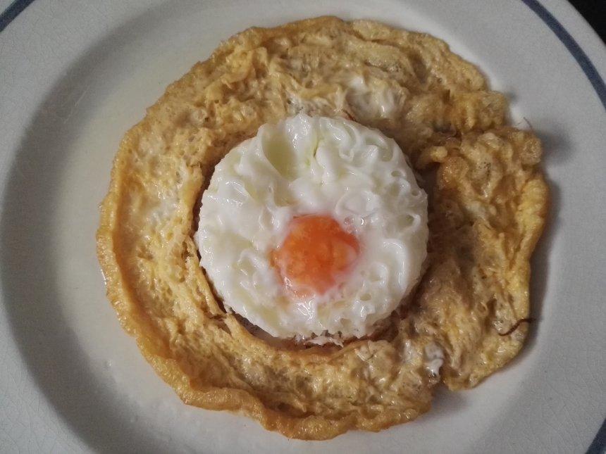 Tortilla de  huevo frito