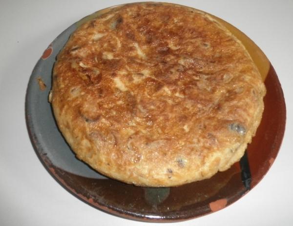 Tortilla de níscalos (rovellones)