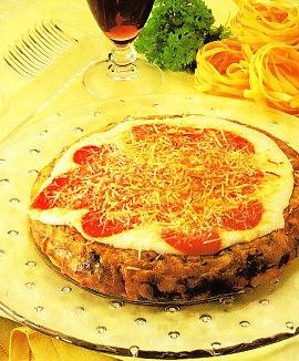 Tortilla de pasta con queso