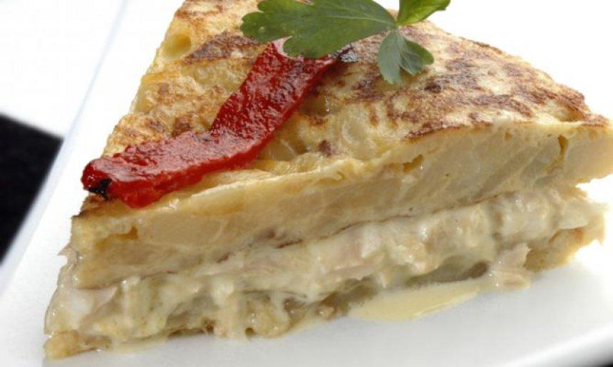 Tortilla de patatas con relleno