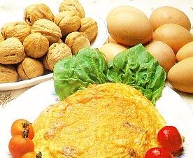 Tortilla de queso y nueces