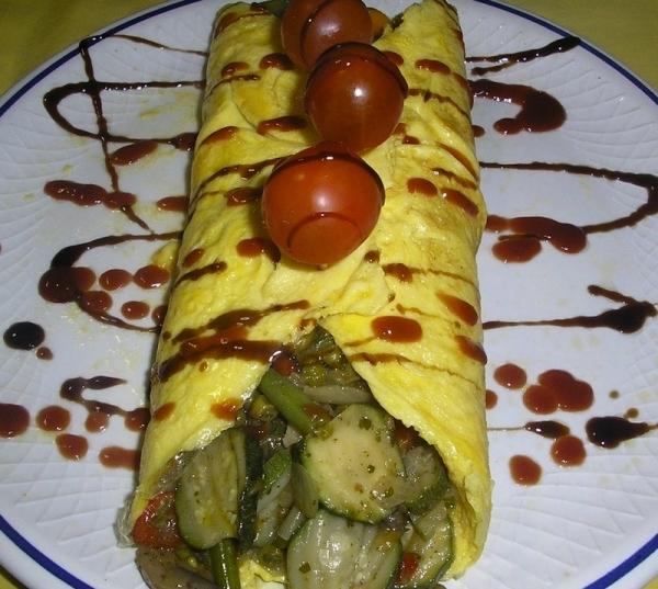 Tortilla rellena de verduras