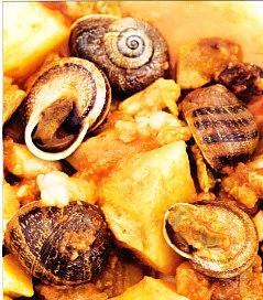 Tripa seca de atún con caracoles