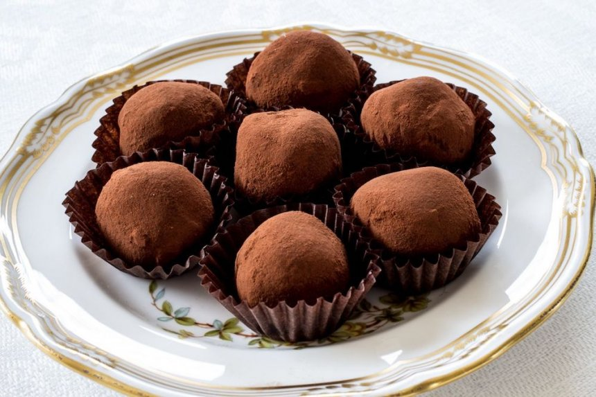 Trufas de chocolate al ron