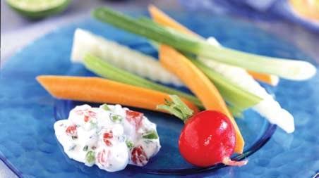 Vegetales surtidos con salsa Dip