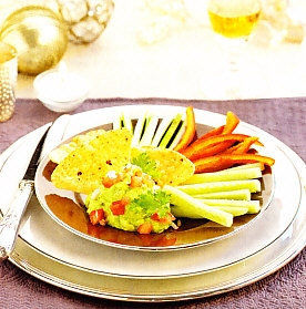 Verduras con guacamole