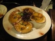 Vieiras con salsa de azafrán