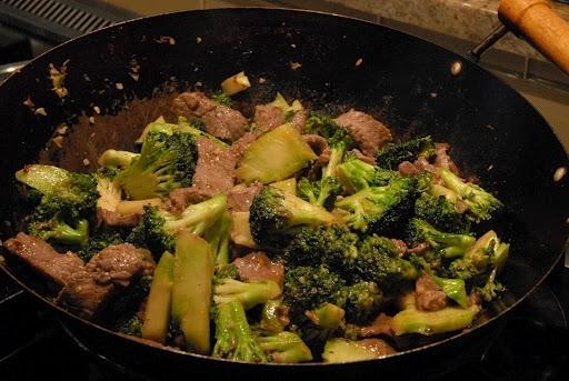 Wok de ternera y verduras