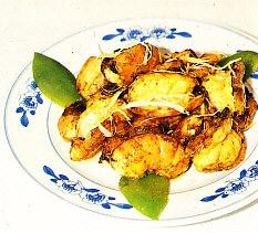 Zha pen ming xia duan (langostinos fritos)