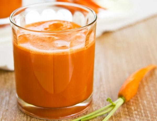 Zumo de zanahoria y apio