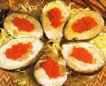 Receta de Aguacates con salmón