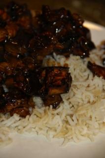 Ajetes con arroz