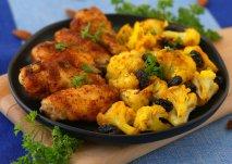 Alas de pollo con brócoli frito
