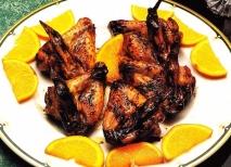 Alas de pollo con jengibre
