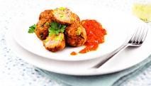 Albóndigas al curry con verduras
