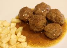 Albóndigas al curry en microondas